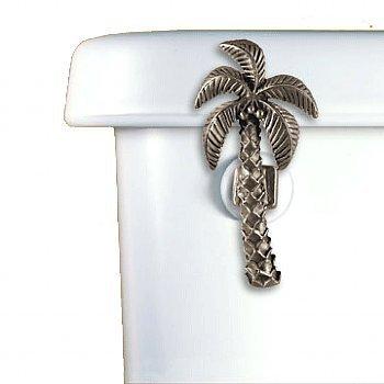 Palm Tree Toilet Flush Handle - Front Mount-Satin Pewter (Tree Toilet)