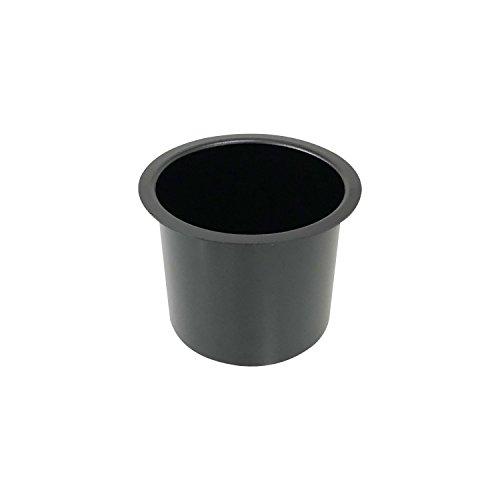 YH Poker Single Aluminum Jumbo Poker Table Cup Holder in Black