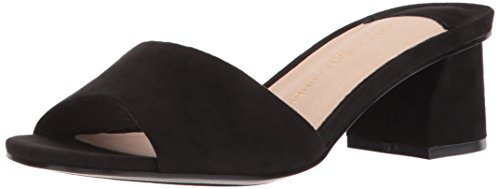 Chinese Laundry Women's My Girl Slide Sandal, Black Suede, 7 M ()