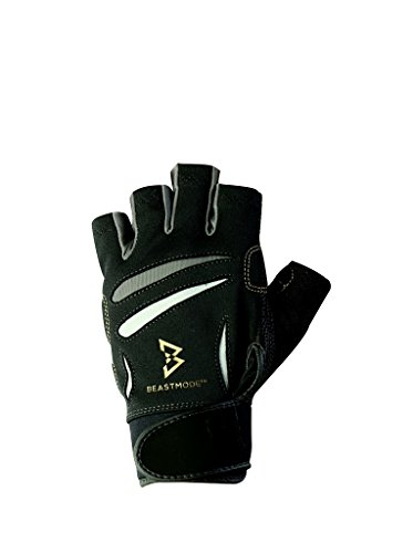 The Official Glove of Marshawn Lynch - Bionic Gloves Beast Mode Women's Full Finger Fitness/Lifting Gloves w/ Natural Fit Technology, Black (PAIR) (Bionic Mens Gloves Fitness)