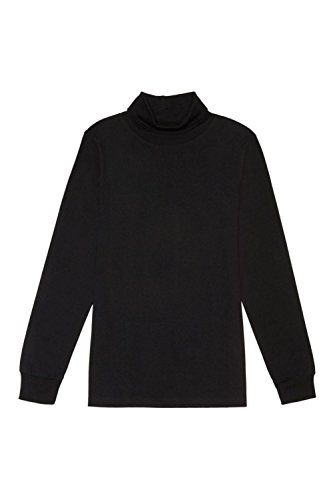 French Toast Toddler Boys' Long Sleeve Turtleneck Shirt, Black, 2T (Kids Black Toddler Clothing)