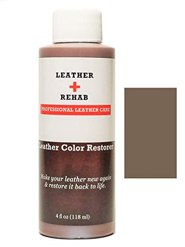 Leather Rehab Leather Color Restorer - Repair & Restore Faded, Worn and Scratched Leather & Vinyl Easily with No Kit - Furniture, Couch, Car Seat, Shoes, Jacket and Boots - 4 oz. Toffee