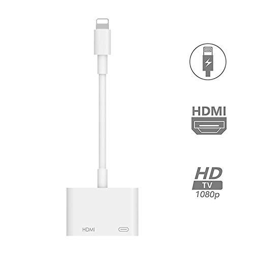 【2020令和最新版】iPhone HDMI 変換 アダプタ ライトニング avアダプタ 設定不要 接続ケーブル HDMI スマホ 操作不要 高解像度 ゲーム TV視聴 iphone se(第二世代)/11/11 Pro/11 Pro Max iPhoneX/XR/XS/XS/SE/8/8plus (IOS12 IOS13対応)