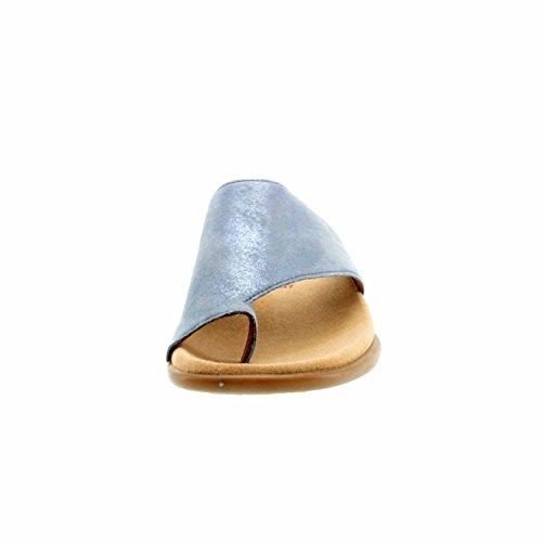 Gabor 63700-76 - Zuecos de Piel para mujer Blau (Aquamarin)