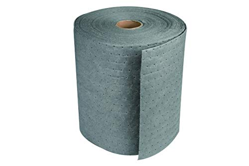 (Aain(R) LT010 Gray Oil-Cleanup Premium Heavyweight Absorbent Mat Roll, Absorbs Oils; Coolants; Solvents; Water, Heavyweight, 150' L x 15