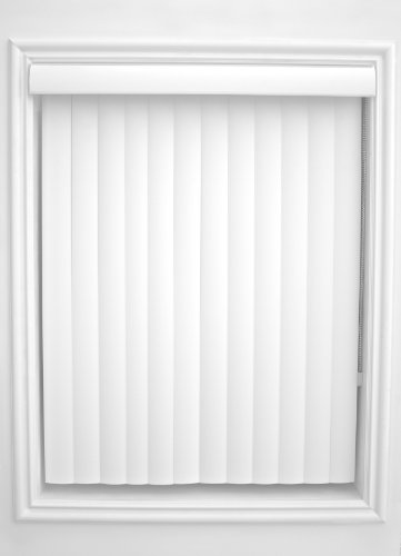 Allied Window Fashions Simplicity Collection Center Opening Curved Vertical Blinds with Dust Cover Valance, Inside Mount, 52-3/4 by 117-1/2-Inch, White -  Allied Window Fashions Inc., CUR-WHT-52.75x117.5-C/O-REG-IN-(62X120)
