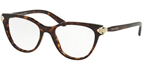 Bvlgari Women's BV4156B Eyeglasses Dark Havana 54mm ()