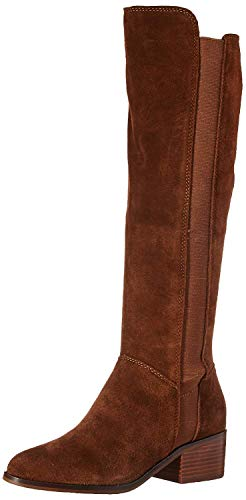 Steve Madden Womens Giselle Leather Closed Toe Over, Chestnut Suede, Size 5.5