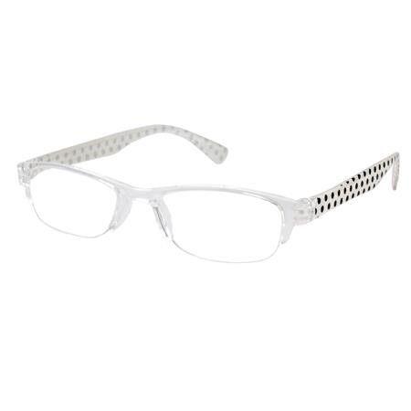 Premium Quality Readers - Charlotte White / Black - Eyeglasses Charlotte