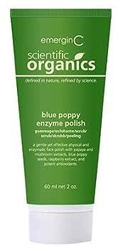emerginC Scientific Organics – Blue Poppy Enzyme Brightening Polish, Facial Exfoliating Scrub 2oz 60ml