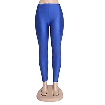 Xuanytp Pantalones de Yoga Solid Candy Neon Plus Size ...