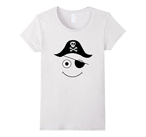 Costume Cute Lady White (Womens Cute Pirate Halloween Costume w Hook, Skull Hat & Eyepatch Medium)