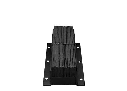 IRONguard-Rubber-Dock-Bumper-Rectangular-Laminated-Vertical-Mount-6-Holes-20-Length-11-Width-12-Depth
