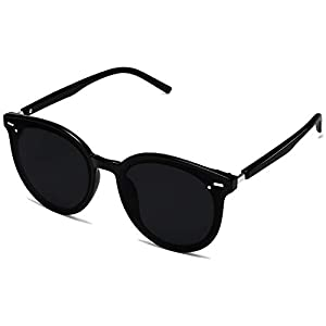 SOJOS Classic Round Retro Plastic Frame Vintage Inspired Sunglasses BLOSSOM SJ2067