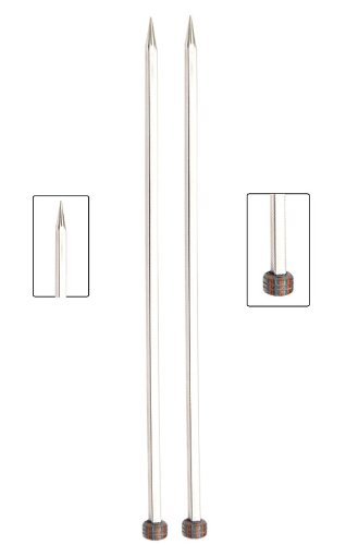 Knitter's Pride Nova Cubics Single Point 10-inch (25cm) Knitting Needles; Size US 9 (5.50mm) 310312