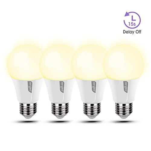 Sengled A19 LED light Bulbs, Soft White LED Bulb, 2700K A19 Light Bulbs, 60W Equvilent (9W), 800 Lumens, 15 Seconds Delay Off Function, Bedroom Lighting, 4 Pack