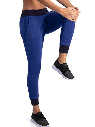 - Dry Fit Sweatpants for Women - Loose Fitting Yoga Crop Joggers - Lounge Pants Vintage Navy