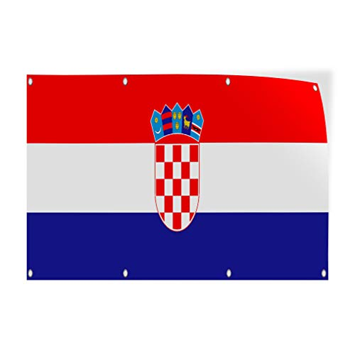 Decal Sticker Multiple Sizes Croatia Flag Red White Blue Countries Croatia Flag Outdoor Store Sign Red - 45inx30in, Set of 10