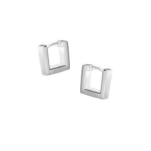VINANI Klapp-Creolen Small Qubic Silber 925 Ohrringe CSQ