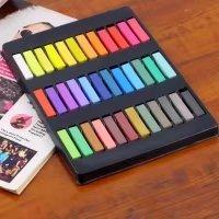 Temporary Hair Chalk Set Non-Toxic Hair Color Cream Rainbow Color Hair Dye(36pcs)