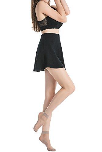 Stocking-Fox-Womens-3-Pack-15-Denier-Silky-Anti-Slip-Sheer-Ankle-Sock
