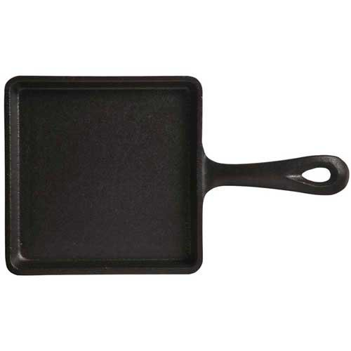 World Tableware Square Cast Iron Skillet with Handle, 5.5 inch -- 12 per case.