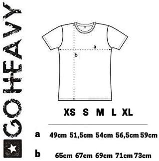 GO HEAVY Oversize Damen Fitness Trainings T-Shirt Graphic