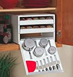 "Cabinet Spice Rack with Measuring Tools (White) (8.5""H x 11""W x 10.75""D)"