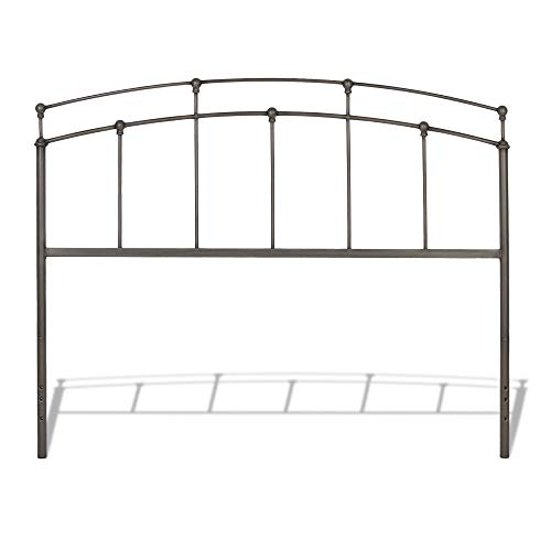 Leggett & Platt Fenton Metal Headboard Panel with Gentle Curves, Black Walnut Finish, King ()