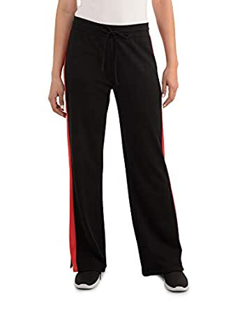 Seek No Further Womens 309000L Relaxed Fit Wide Leg Track Pant Casual Pants - red - Small