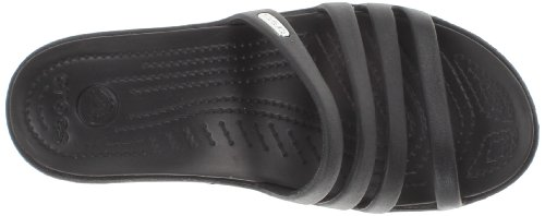 Crocs Rhonda Wedge Sandal, Zapatillas de Estar por Casa con Talón Abierto para Mujer Nero (Black/Black)
