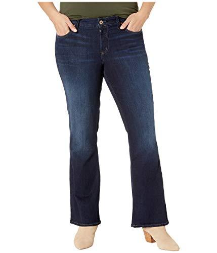 Silver Jeans Co. Women's Plus Size Suki Curvy Fit Mid Rise Slim Bootcut Jeans, Classic Dark wash 24x31