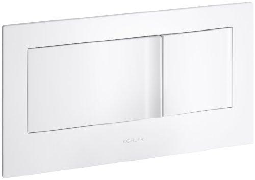KOHLER K-6298-0 Veil Flush Actuator Plate, White