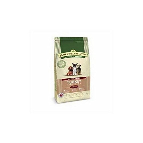 85%OFF James Wellbeloved Dog Food Turkey and Rice Adult Small Breed (1.5kg) (Pack of 4)