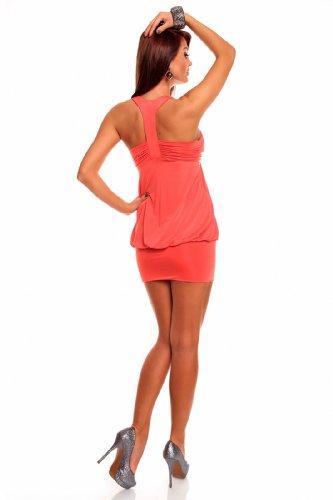 Young-Fashion - Vestido - Noche - Sin mangas - para mujer salmon oscuro
