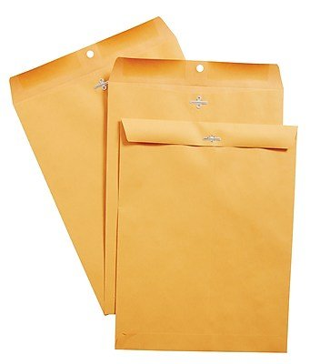 (Staples Clasp Closure Kraft Envelopes, 10 inches x 13 inches, Brown, 100 Envelopes per Box)