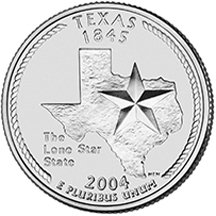 Denver Quarter State Minted - 2004 D Texas State Quarter Choice Uncirculated
