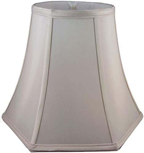 American Pride 10 x 20 x 14 Hexagon Soft Shantung Tailored Lampshade, Croissant