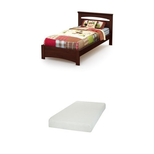 South Shore Sweet Morning Twin Bed Set , Royal Cherry, and S