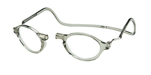 Clic Magnetic Classic Reading Glasses in Smoke - Glasses Classic Reading