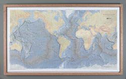Ocean Floor Raised Relief Map (Raised Relief Map of the Ocean Floor)