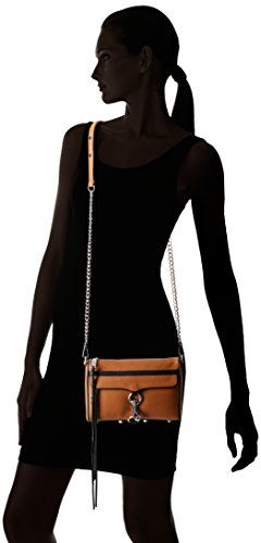 Mini Black Minkoff Rebecca Contrast with Soft Tan Cross Trim Mac Body 4Up5Svpqxw