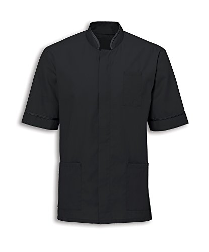Alexandra Workwear Mens Mandarin Collar Healthcare Tunic Black L