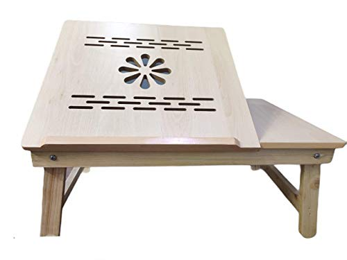 ORRIL Multipurpose Foldable Laptop Table to Read Write Study for Kids and All Age Groups- (Wood)-Brown-Made in India