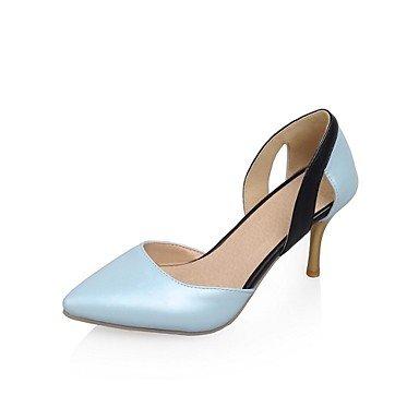 Blu donne Stiletto in Donna High punta cirior Pumps tacchi zehe pelle High Heels Heels wxYqOT
