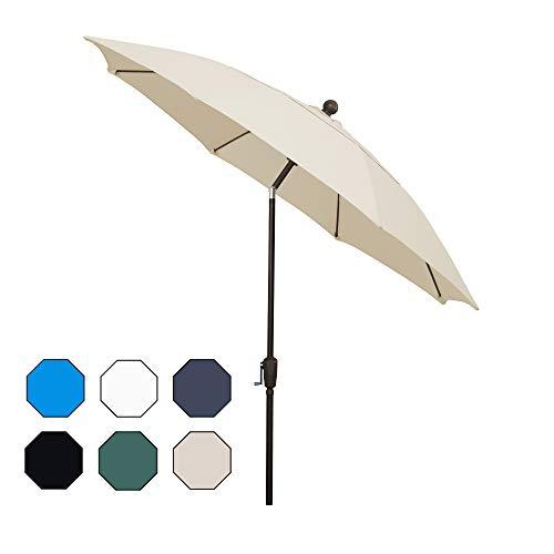 FiberBuilt Umbrellas AZ9HCRCB-T-Natural Patio Umbrella, Natural