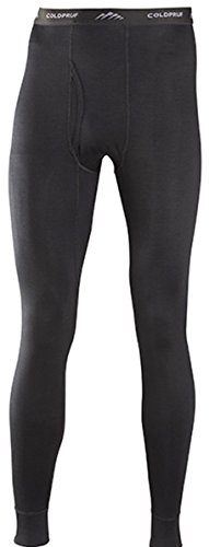 coldpruf Men's Classic Base Layer Pants, Black, Medium