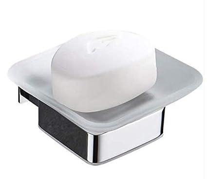 Contenedor de caja de jabón Jabonera de cristal de acero ...