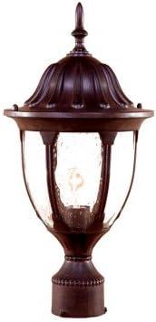 Acclaim 5067BW Suffolk Collection 1-Light Post Mount Outdoor Light Fixture, Burled Walnut