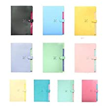 ETbotu 5-Pocket Expanding File Folder Organ Bag A4 Organizer Paper Hold Document Folder School Office Supplies